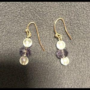 Jewelry - Purple and White Beaded Earrings. MUST BUNDLE